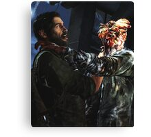 The Last of Us - Joel and a Clicker FIghting  Canvas Print