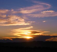 Cloudy New Mexico Sunset by CynLynn