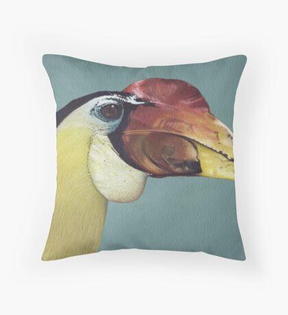 Wrinkled Hornbill Throw Pillow