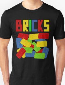Colored Bricks [Large] by Customize My Minifig Unisex T-Shirt