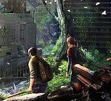The Last of Us - Joel and Ellie Walking in the City by TylerMellark