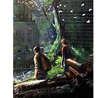 The Last of Us - Joel and Ellie Walking in the City Photographic Print