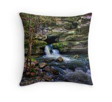 Blanchard Springs Arkansas Throw Pillow