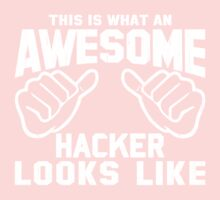 This is What an AWESOME HACKER Looks Like Retro Kids Clothes