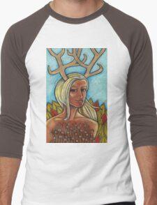 Deer Woman Tee Men's Baseball ¾ T-Shirt