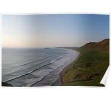Rhossili Lines Poster