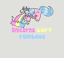 unicorns barf rainbows Womens Fitted T-Shirt