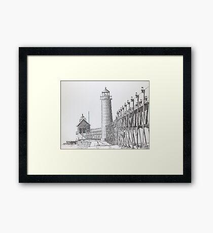 Grand Haven Riverwalk Framed Print
