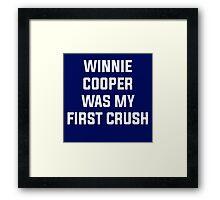 Winnie Cooper - Wonder Years Design Framed Print