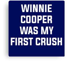 Winnie Cooper - Wonder Years Design Canvas Print