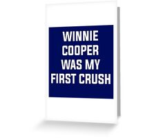 Winnie Cooper - Wonder Years Design Greeting Card
