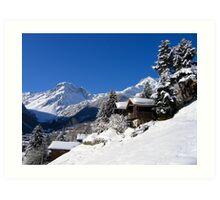 Snow white valley Art Print