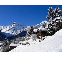 Snow white valley Photographic Print