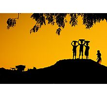 The Golden Hour in a Village Photographic Print