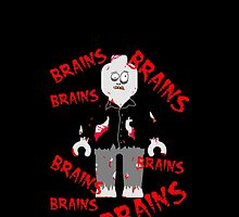 A LOT OF BRAINS - ZOMBIE MINIFIG by Customize My Minifig