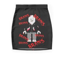 A LOT OF BRAINS - ZOMBIE MINIFIG Mini Skirt