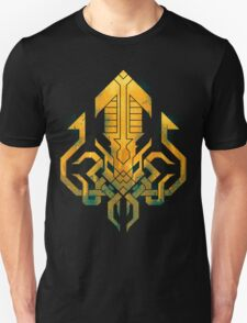 Golden Kraken Sigil Unisex T-Shirt