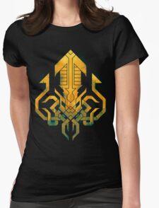 Golden Kraken Sigil Womens Fitted T-Shirt
