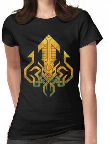 Golden Kraken Sigil Womens Fitted T-Shirt