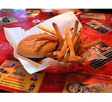 """Burger and Fries"" Photographic Print"
