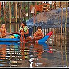 Washday in Kompong Phluk by Adri  Padmos