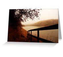 Autumn Mist - North Saskatchewan River Greeting Card