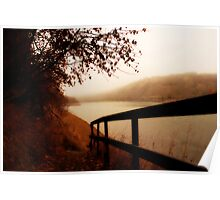 Autumn Mist - North Saskatchewan River Poster