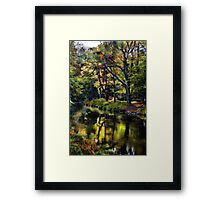 Autumnal River Devon Framed Print