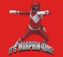 Mighty Morphin Red Ranger - It's Morphin Time! Kids Clothes