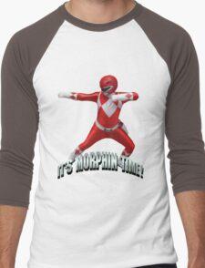 Mighty Morphin Red Ranger - It's Morphin Time! Men's Baseball ¾ T-Shirt