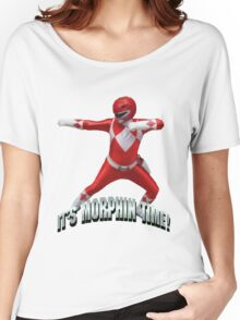 Mighty Morphin Red Ranger - It's Morphin Time! Women's Relaxed Fit T-Shirt
