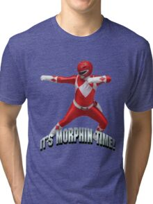 Mighty Morphin Red Ranger - It's Morphin Time! Tri-blend T-Shirt