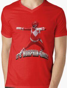 Mighty Morphin Red Ranger - It's Morphin Time! Mens V-Neck T-Shirt