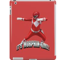 Mighty Morphin Red Ranger - It's Morphin Time! iPad Case/Skin