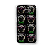 """Cool Pugs"" pink/green Samsung Galaxy Case/Skin"