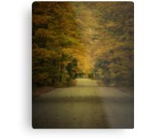 Autumn Drive ~ Experiment in Texture Metal Print