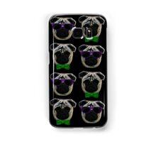 """Cool Pugs"" green/purple Samsung Galaxy Case/Skin"