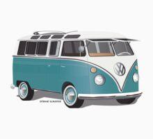 Split VW Bus Teal by Frank Schuster
