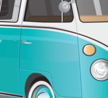 Split VW Bus Teal Sticker