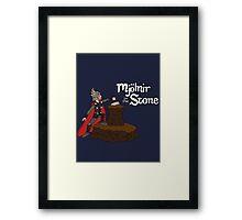 Mjolnir in the Stone (Helmet Version) Framed Print