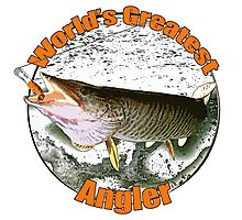 World's greatest angler Photographic Print