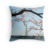 Washington DC - Cherry Blossom Throw Pillow