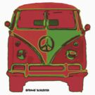 Splitty VW Bus Front Glow by Frank Schuster