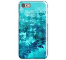 OFF THE GRID 8 Colorful Coastal Fine Art Abstract Watercolor Acrylic Monochrome Turquoise Aqua Teal Painting iPhone Case/Skin