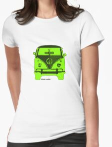 Splitty VW Bus Front Screen Womens Fitted T-Shirt