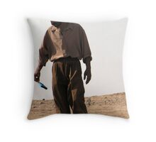 Vintage fashion show in the field Throw Pillow