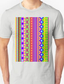 Aztec Geometry Psychedelic  T-Shirt