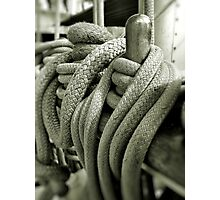 Roped At Falmouth Photographic Print