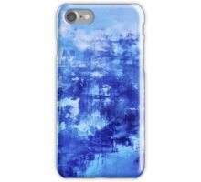 OFF THE GRID 7 Colorful Coastal Fine Art Abstract Watercolor Acrylic Monochrome Turquoise Royal Blue Painting iPhone Case/Skin