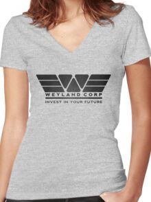 Weyland Corporation Women's Fitted V-Neck T-Shirt
